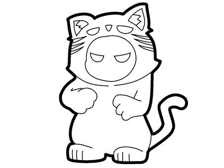無色鬼貓服裝鬼