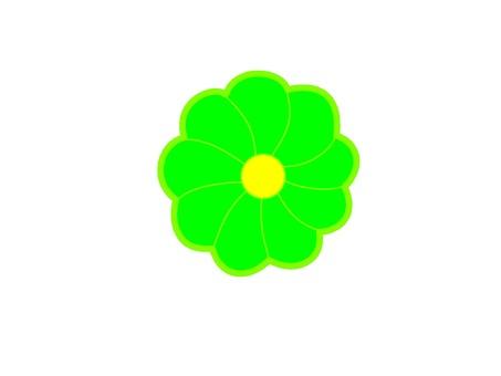 Green flower mark icon
