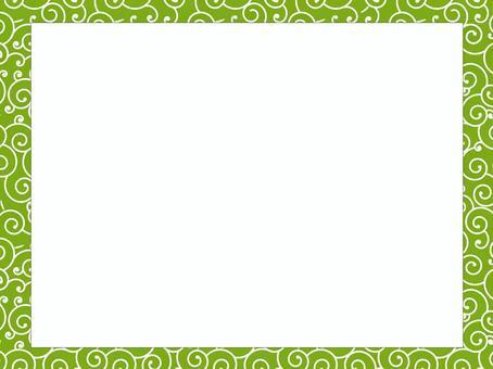 蔓藤花紋模式框架