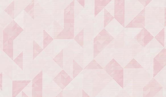 Triangular pattern background pink
