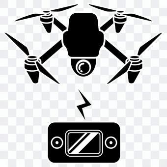 無人機和控制器剪影