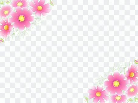 秋向け・コスモスのフレーム3ピンク