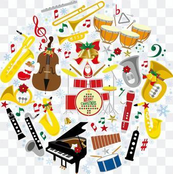 聖誕音樂插畫集