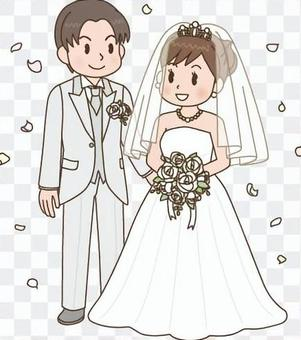 结婚式 新郎新妇