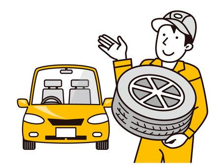 機械師建議更換輪胎