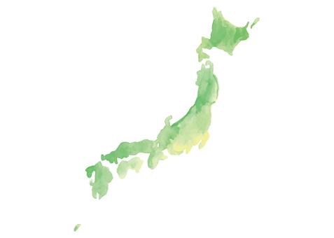 日本水彩地圖