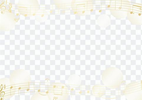 樂譜和點金框
