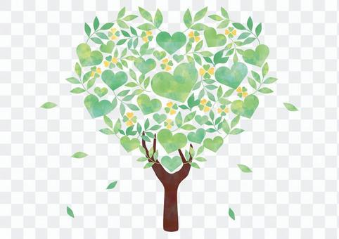 Fresh green tree _ Heart shape 1940