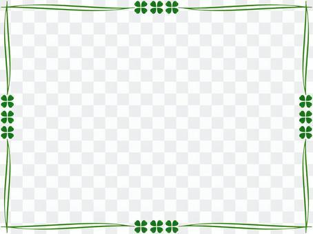 四葉草框架簡單的裝飾框架