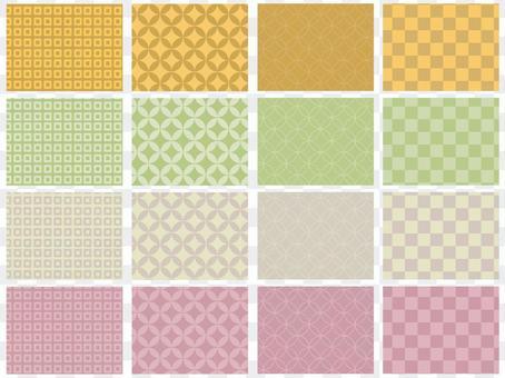 Autumn-like Japanese pattern background set