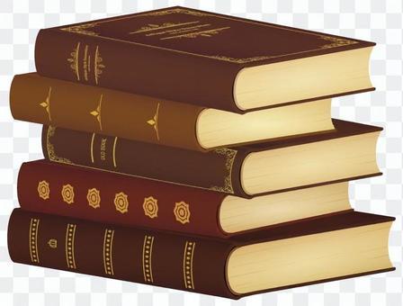 被堆積的舊書_布朗