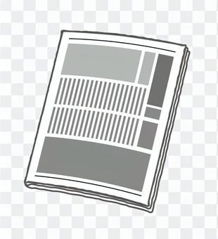 Closed newspaper image
