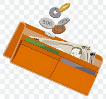 長錢包(橙色