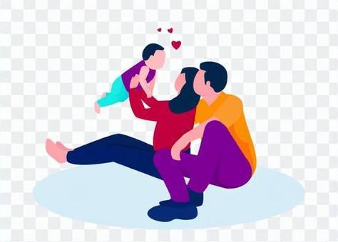 父母和孩子安慰他們的兒子