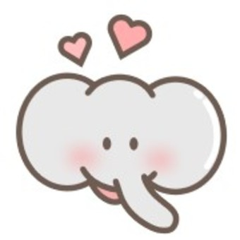 象動物臉耳朵鼻子心臟