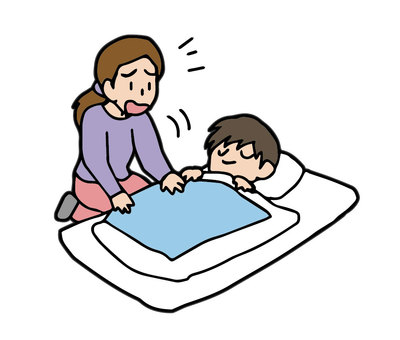 Parents who wake up their children in the morning, never wake up, sleep disorders