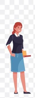 女人在上課