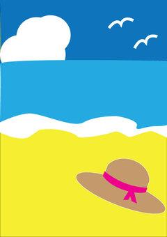 海和草帽與顏色