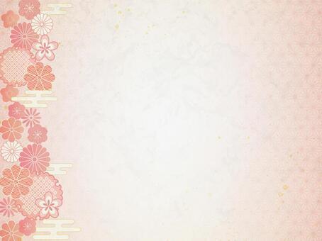 Japanese pattern pink frame