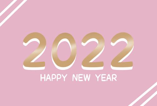 帶有簡單設計的新年賀卡 1