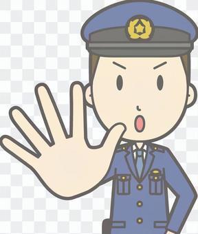 警官男性沒有胸圍