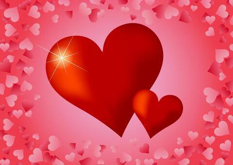 情人節背景與閃光的心