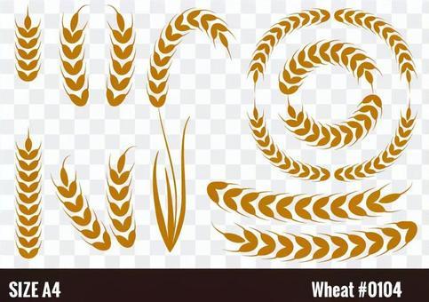 小麥插圖素材