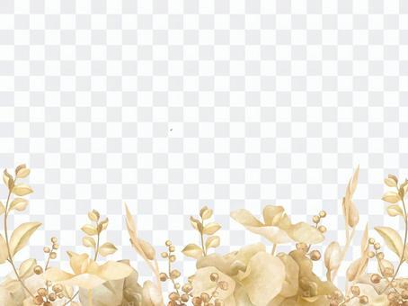Gold botanical background