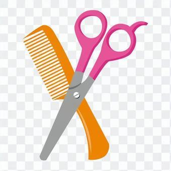 剪刀和梳子
