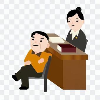 女律師和被告的男人