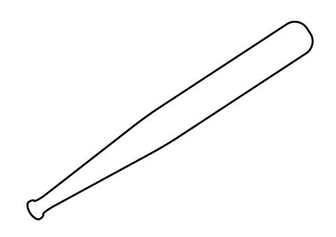 2_Illustration (baseball, line art, bat)