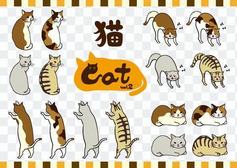 かわいいネコちゃんセット2