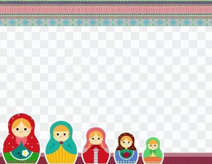 Matryoshka _框架_模式_粉紅色