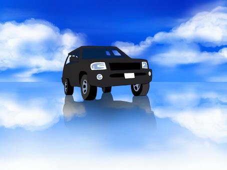 烏尤尼鹽湖和四輪驅動車