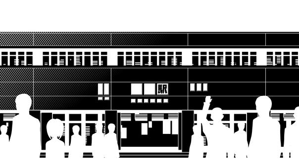 車站,車站,鐵路,剪影 2