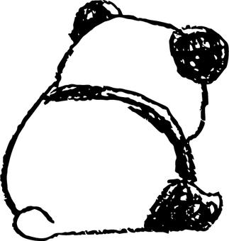 子パンダ-背を向けてるんだ