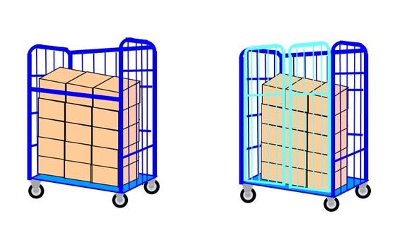 捲紙箱(帶行李)