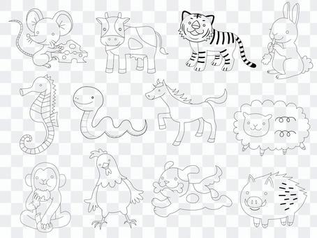 十二生肖和十二生肖動物套裝(僅限行)