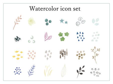 水彩單點插圖集