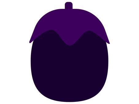 帶凹痕的紫色圓茄子