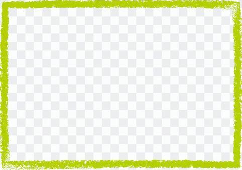 蠟筆觸摸框綠色