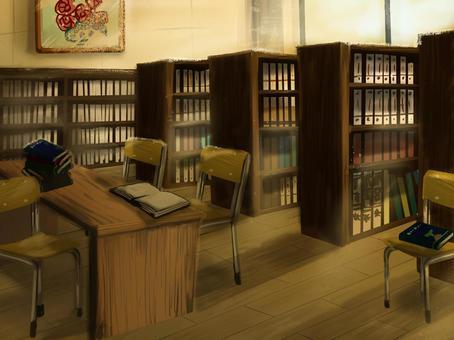 ゆるい図書室・夕