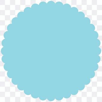 花形ラベル クッキー型フレーム 青 透過