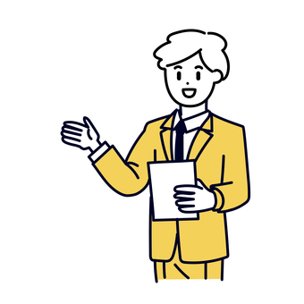 A businessman giving a presentation
