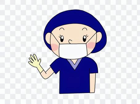 Operation room nurse navy