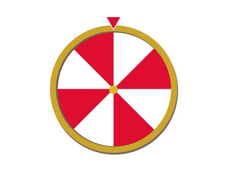 Red and white roulette
