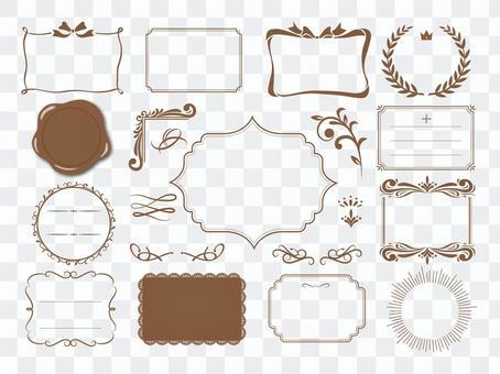 Various frame sets