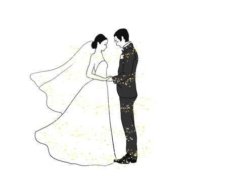 Wedding Two people holding hands Glitter