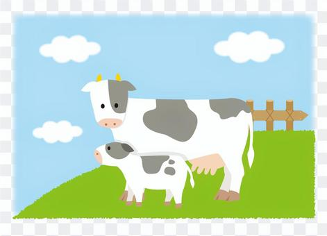 母牛和孩子