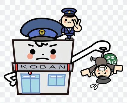 Simple building - police box